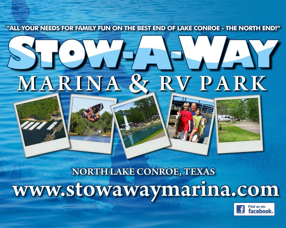 Stow a way marina rv park campground near gibbons creek for Lake conroe fishing map