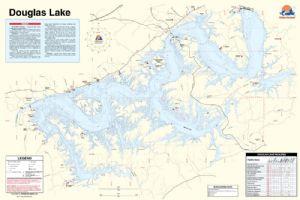 Douglas lake tennessee waterproof map fishing hot spots for Douglas lake fishing