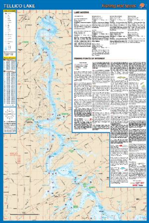 Tellico tennessee waterproof map fishing hot spots for Fishing hot spots maps