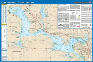 Lake dardanelle waterproof map fishing hot spots lake maps for Lake dardanelle fishing