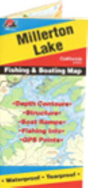 Millerton lake waterproof map fishing hot spots lakes for Millerton lake fishing