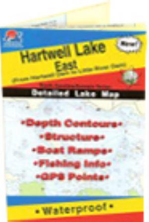 Hartwell lake map east waterproof map fishing hot spots for Lake hartwell fishing hot spots