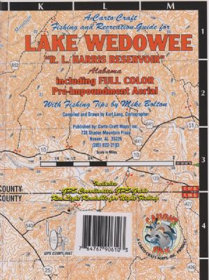 Lake Wedowee R L Harris Resevoir Alabama Waterproof