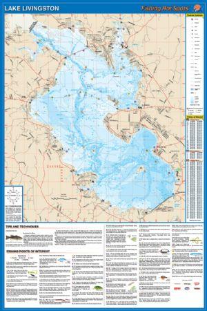 Lake livingston waterproof map fishing hot spots lake maps for Fishing hot spots maps