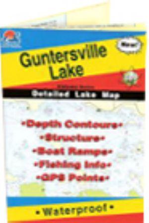 Lake guntersville alabama waterproof map fishing hot for Lake guntersville fishing hot spots