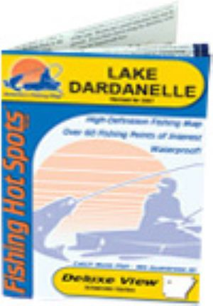 Lake Dardanelle Waterproof Map Fishing Hot Spots Lakes