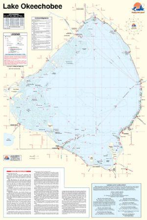 Lake okeechobee florida waterproof map fishing hot spots for Fishing hot spots maps