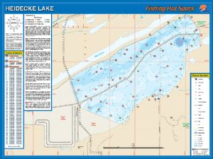 Heidecke collins lake waterproof map fishing hot spots for Fishing hot spots maps