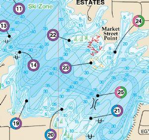 Lake of egypt waterproof map fishing hot spots lake maps for Fishing hot spots maps