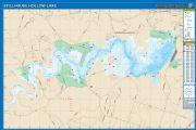 Stillhouse Hollow, Texas  Waterproof Map (Fishing Hot Spots)