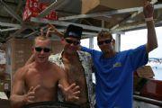 Lake MartinMike , Jody ,  and T J on Lake Martin Docks Love Shack