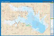 Tawakoni, Texas  Waterproof Map (Fishing Hot Spots)