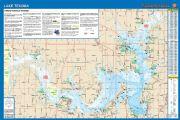Lake Texoma, Oklahoma/Texas Waterproof Map (Fishing Hot Spots)