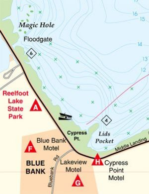 Reelfoot Lake, Tennessee Waterproof Map (Fishing Hot Spots) – Lake Maps