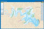Canyon, Texas  Waterproof Map (Fishing Hot Spots)